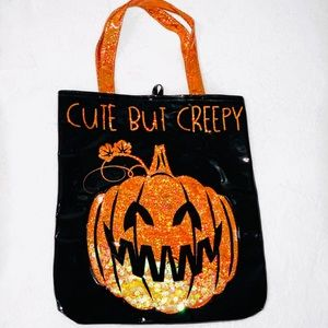 Patent Leather Halloween Treat Bag Tote Purse